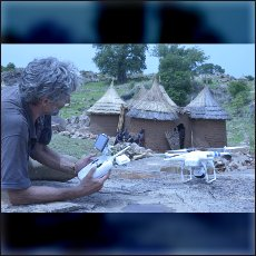 "Filming with ""flying cameras"" in Nuba Mountains. Tabala. June 14 2014"