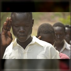 School boys are all members of SPLA North (Sudan People Liberation Army)