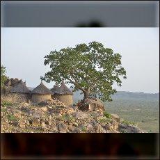 Gore rdečega granita služijo domorodnim ljudem v Nubskih gorah kot naravne trdnjave v katere se že vso znano zgodovino zatekajo pred lovci na sužnje, ki napadajo iz savane.