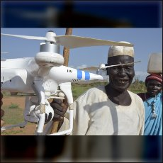 Traditional Nuba see in drones something like flying eyes of an alien god.