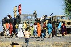 Konvoj SPLA North s katerim smo prispeli v Kauniarou
