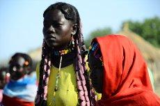 Kau žene med sprejemom SPLA North